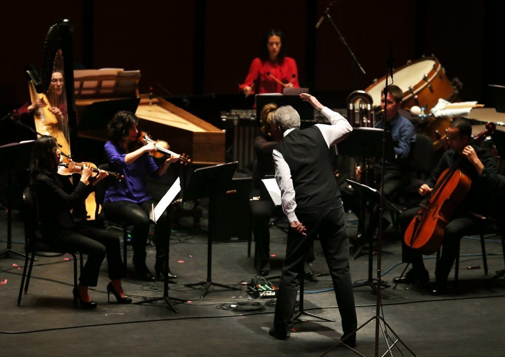 concert review musicnow concert honors pierre boulez at 90 orlando sentinel. Black Bedroom Furniture Sets. Home Design Ideas
