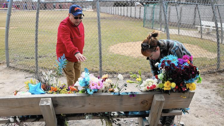 Memorial for suicide victim