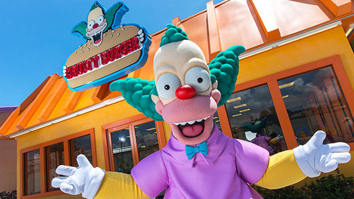 Live from 'The Simpsons' town of Springfield at Universal Studios Hollywood