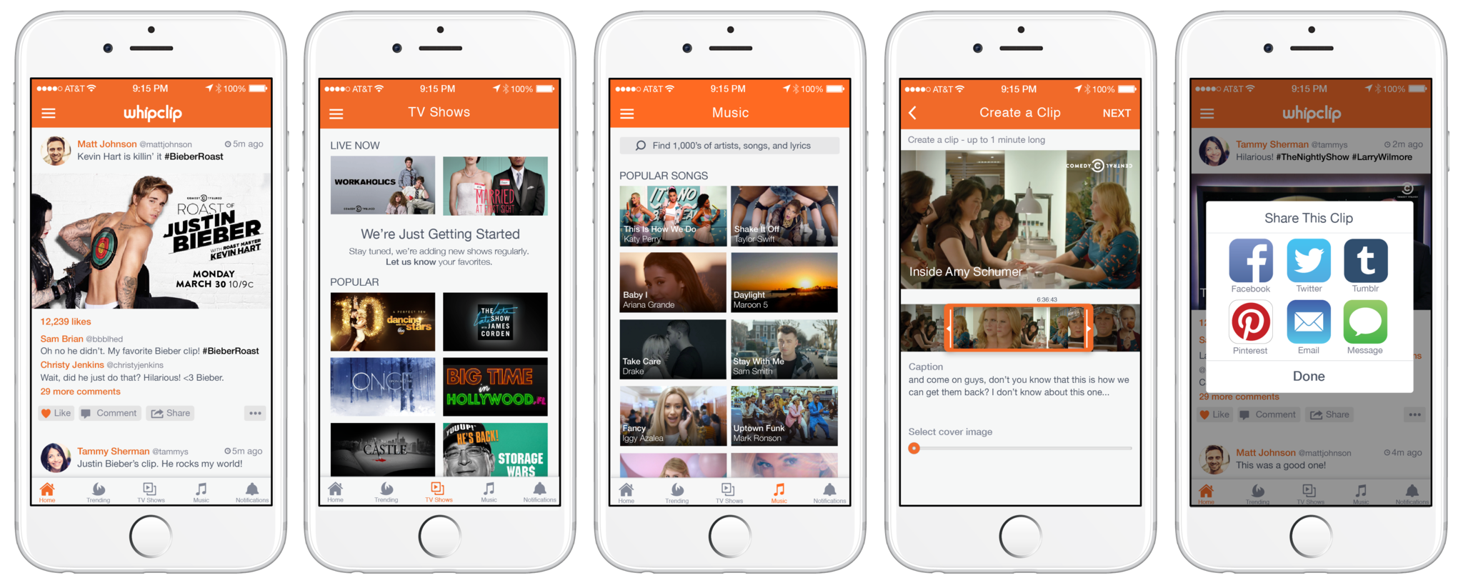 With Whipclip, TV viewers can create and share clips of favorite moments
