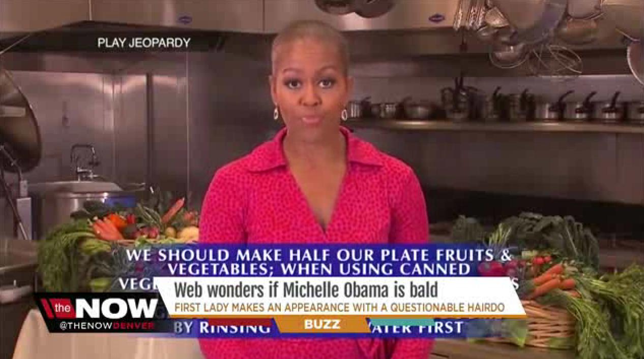 Michelle obama bald head jeopardy