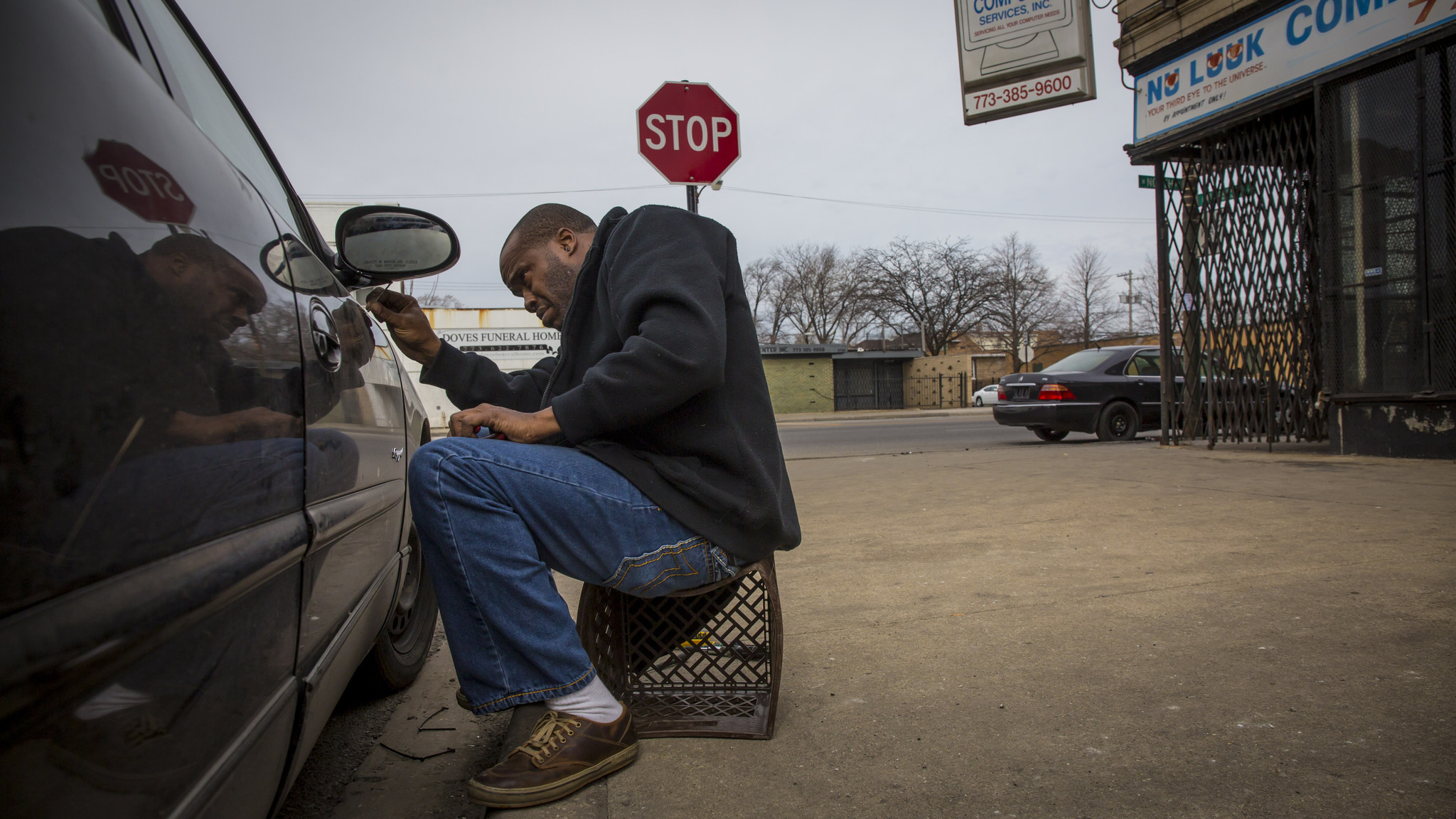 The next day living around gun violence chicago tribune jim wilson sat on a plastic crate monday in front of his uncles nu luuk computer store carefully reattaching the passenger side mirror on his buick regal rubansaba