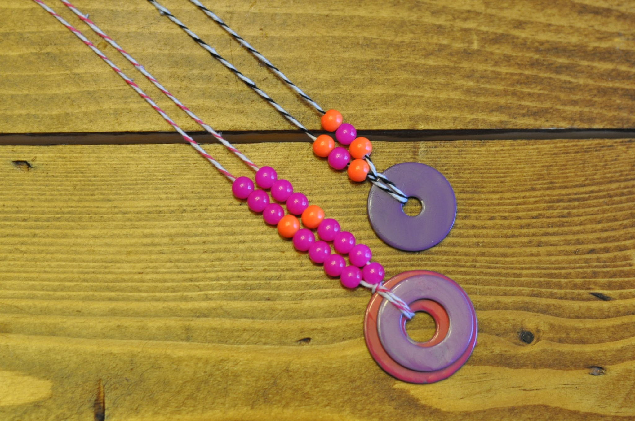 tutorial washer necklace