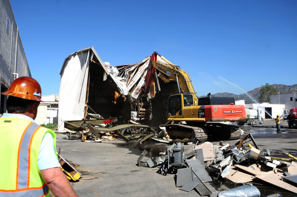 demolition crews clear the way for new ikea burbank leader. Black Bedroom Furniture Sets. Home Design Ideas