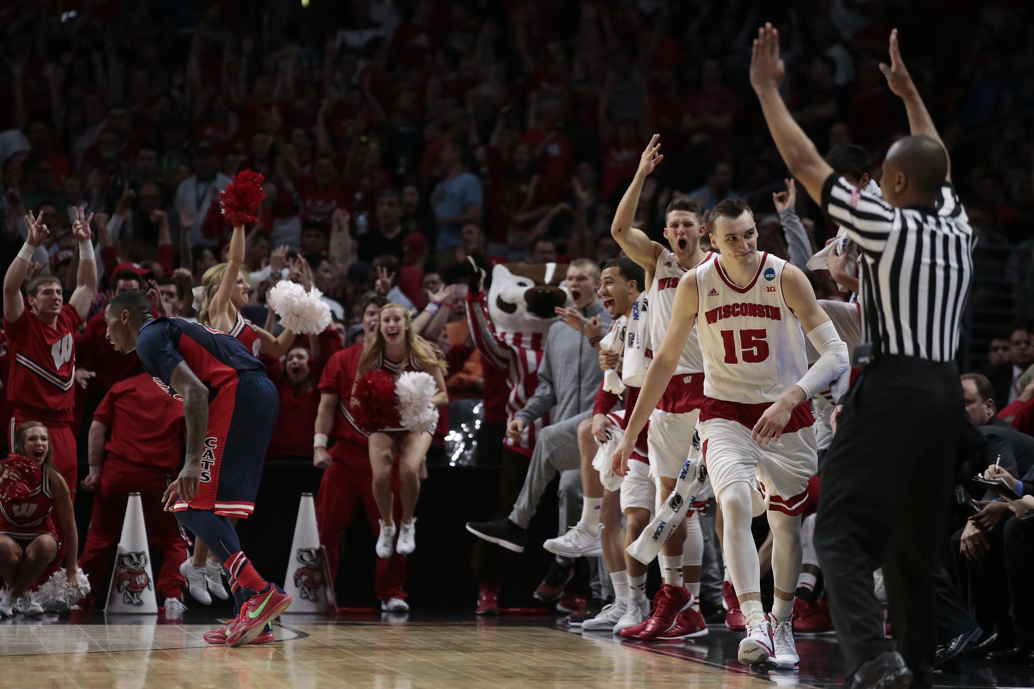 Wisconsin goes distance to beat Arizona in West Regional final, 85-78