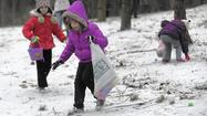 Snow doesn't slow down Easter egg hunts