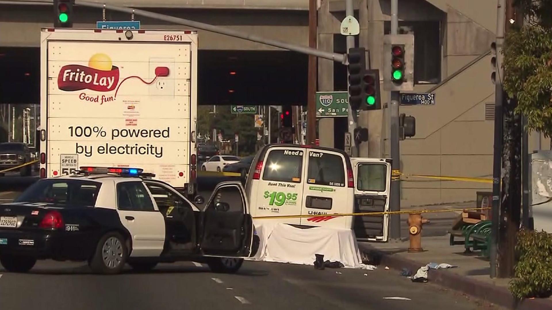 Robbery suspect dies after being dragged under U-Haul van