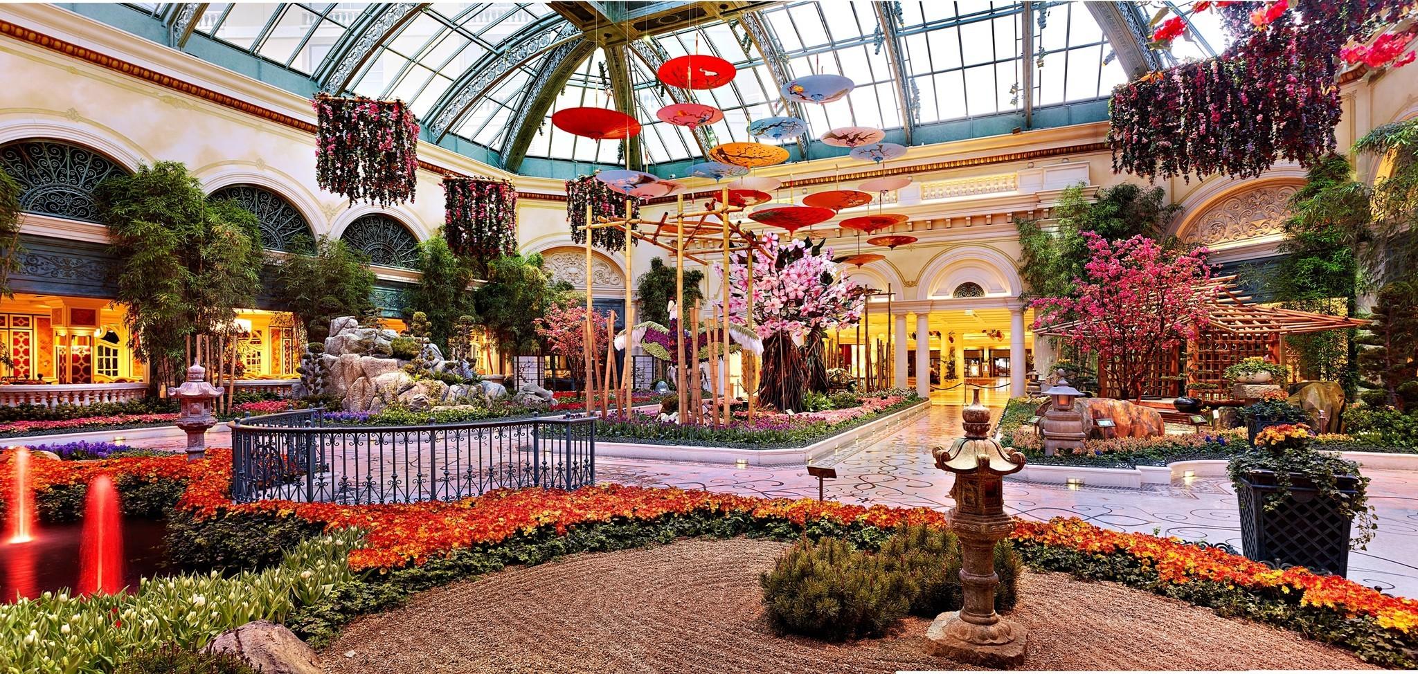 Bellagio Conservatory Spring Display La Times