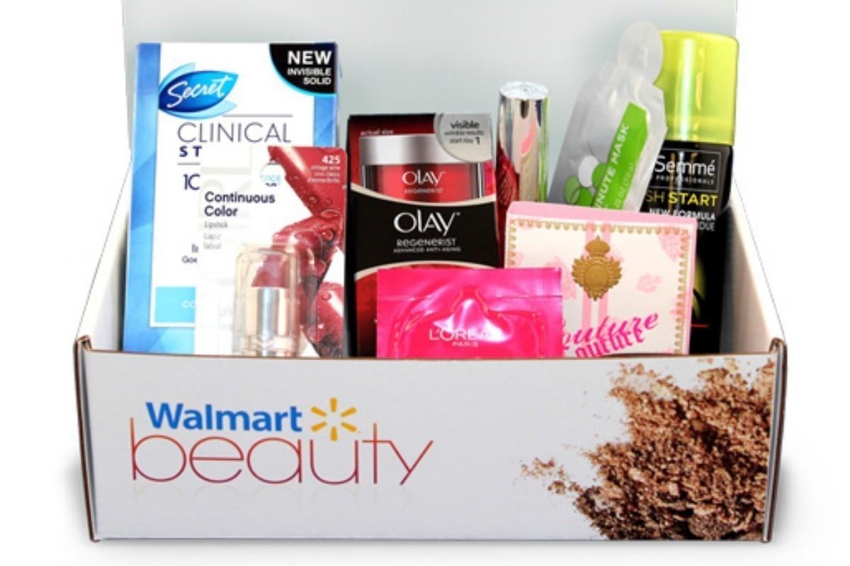 Free Walmart Beauty Box stuffed with fall cosmetics