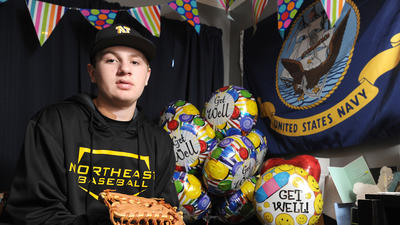 Northeast athlete a heartbeat from tragedy