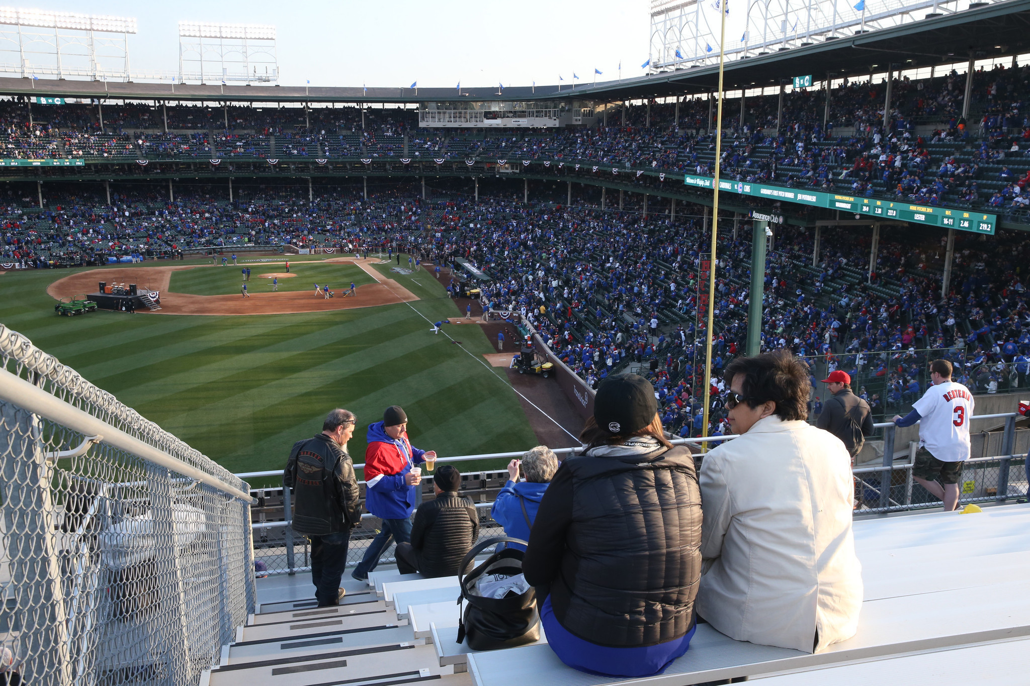Wrigley Field improvements don t look as good from the rooftops