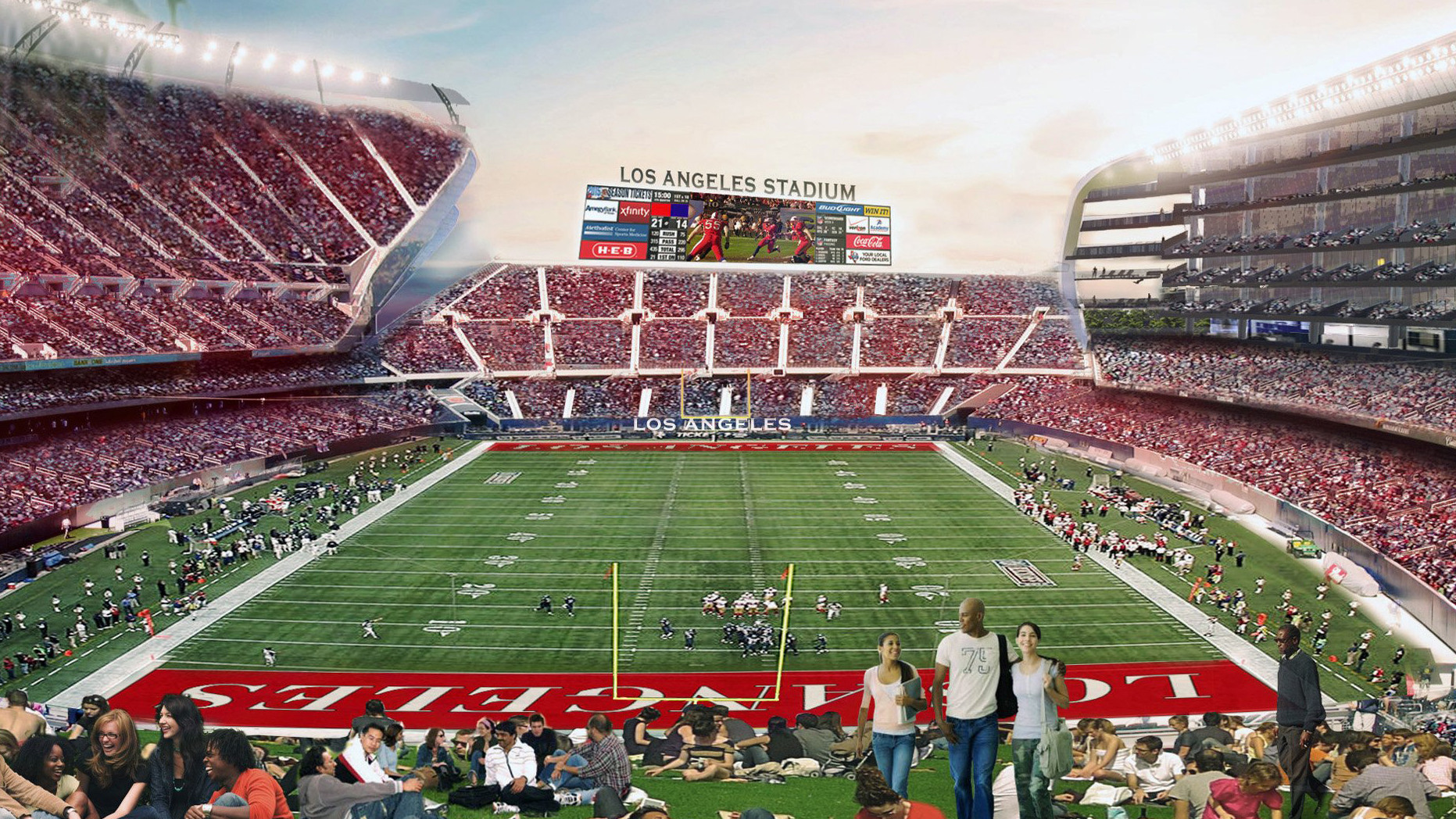 With 3 Nfl Teams And 2 Stadiums At Play For L A Here Are