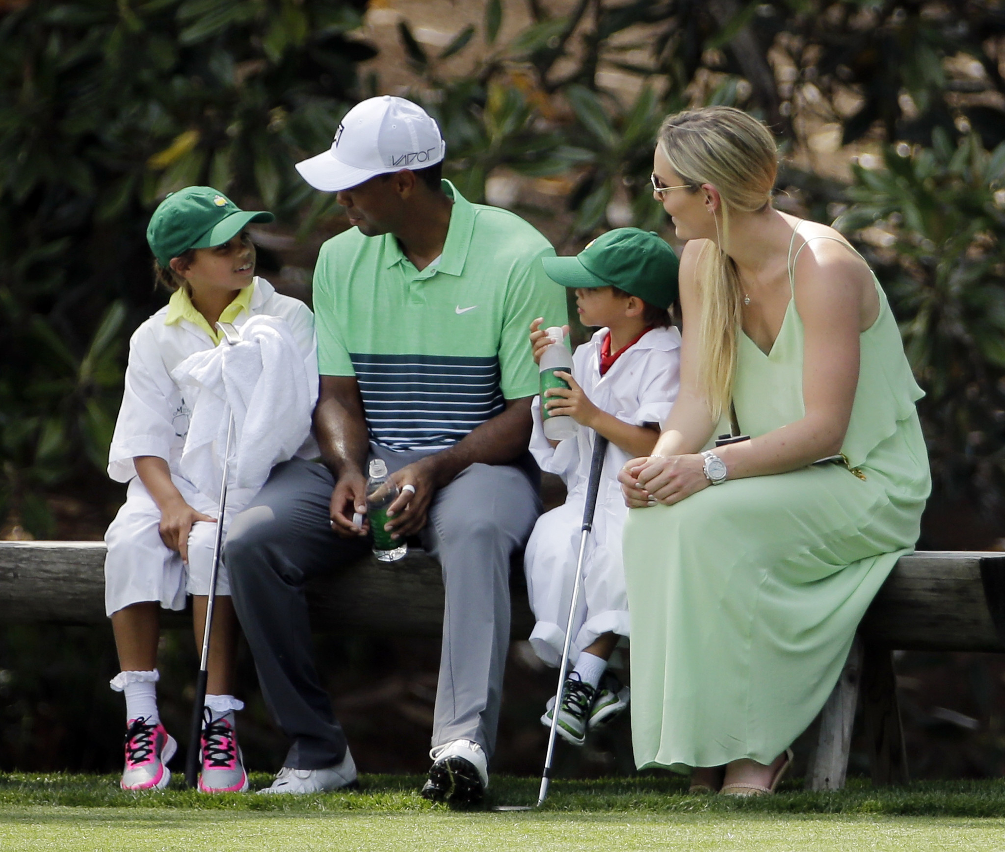 tiger woods and special caddies at masters