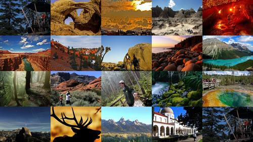 <p>America's 58 national parks feature some of the country's most amazing views, natural formations and wildlife. These include Yellowstone's world-famous geysers, Olympic's rain forests in Washington and Arches' sweeping rock formations in Utah.</p> <p>Each year, millions travel to these parks. Here are the 20 most-visited. America's most popular park may surprise you. It's not Yosemite, the Grand Canyon or Yellowstone.</p> <p>-- Jason La and Deborah Netburn</p> <p><em>Pictured: Half Dome and fall leaves are reflected in the Merced River on a postcard-perfect fall day at Yosemite National Park.</em></p>