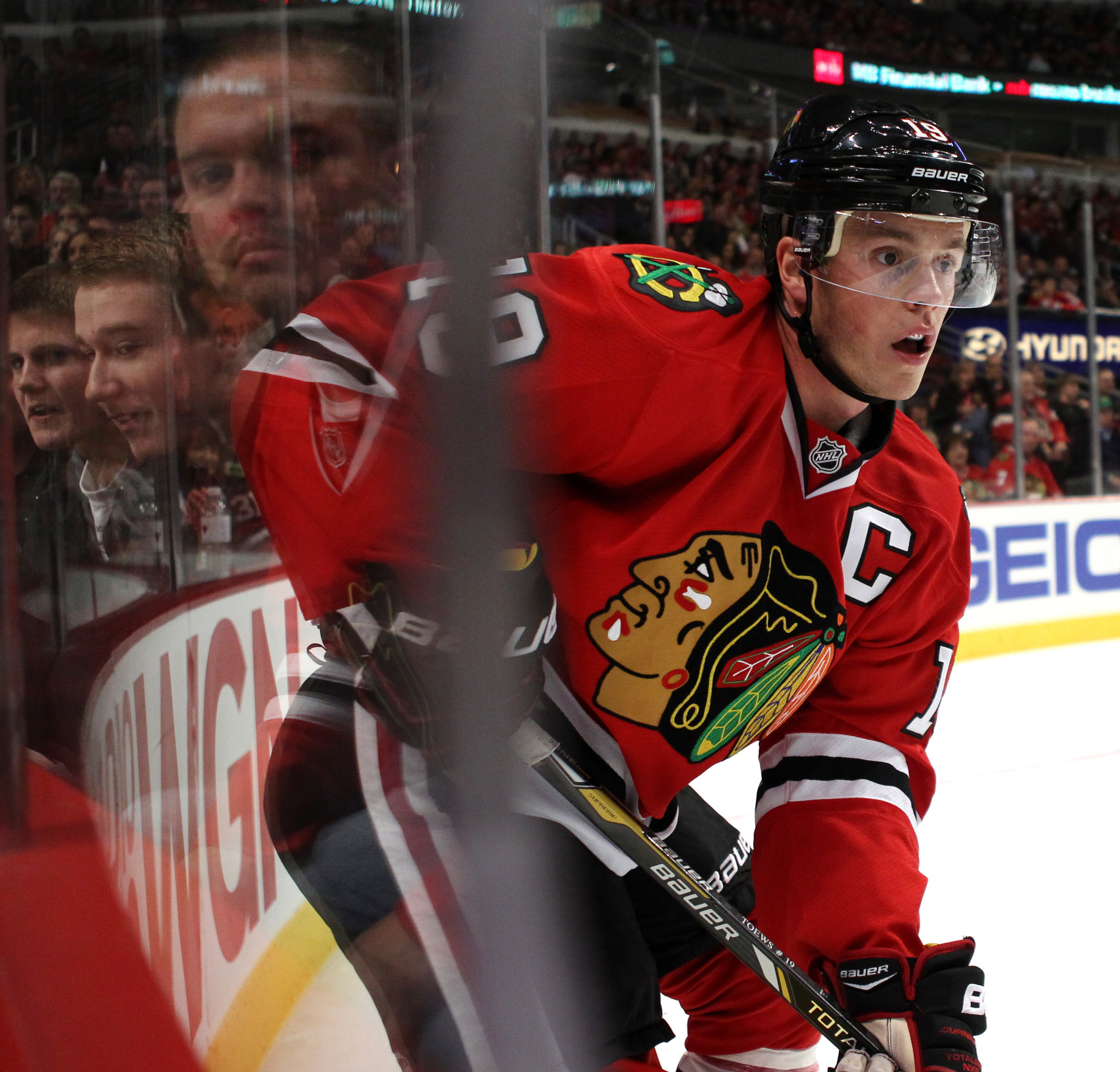 Blackhawks captain Jonathan Toews showing a feistier side this season