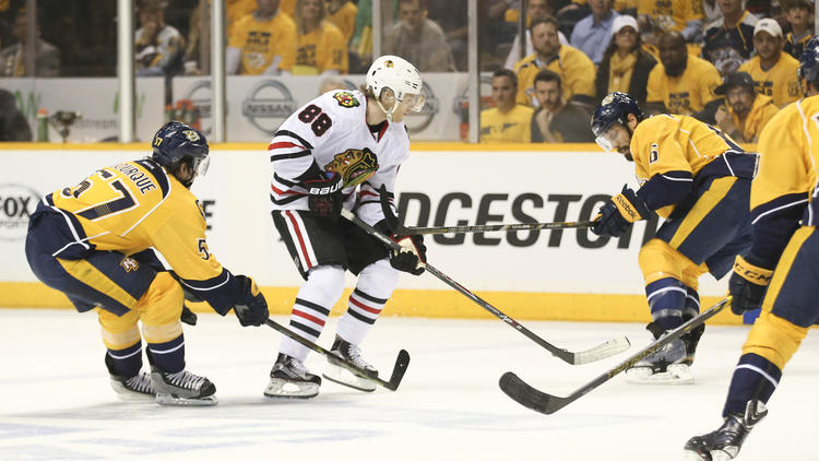 Blackhawks Come Back From 3-0 To Defeat Preds In Double OT: Darling Puts In Outstanding Relief Effort