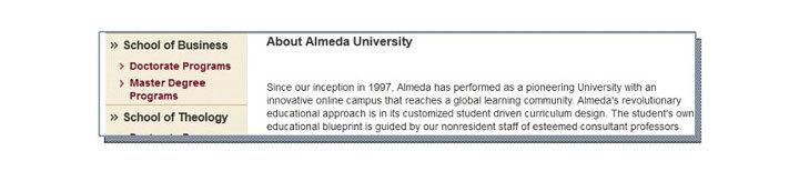 Charleston State University and Almeda University
