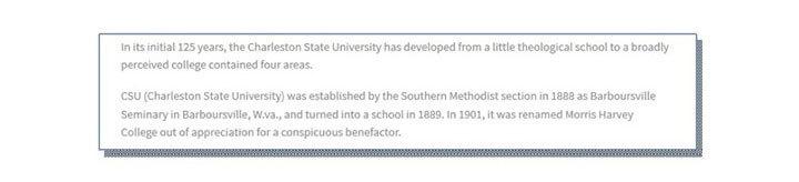 Charleston State University and University of Charleston