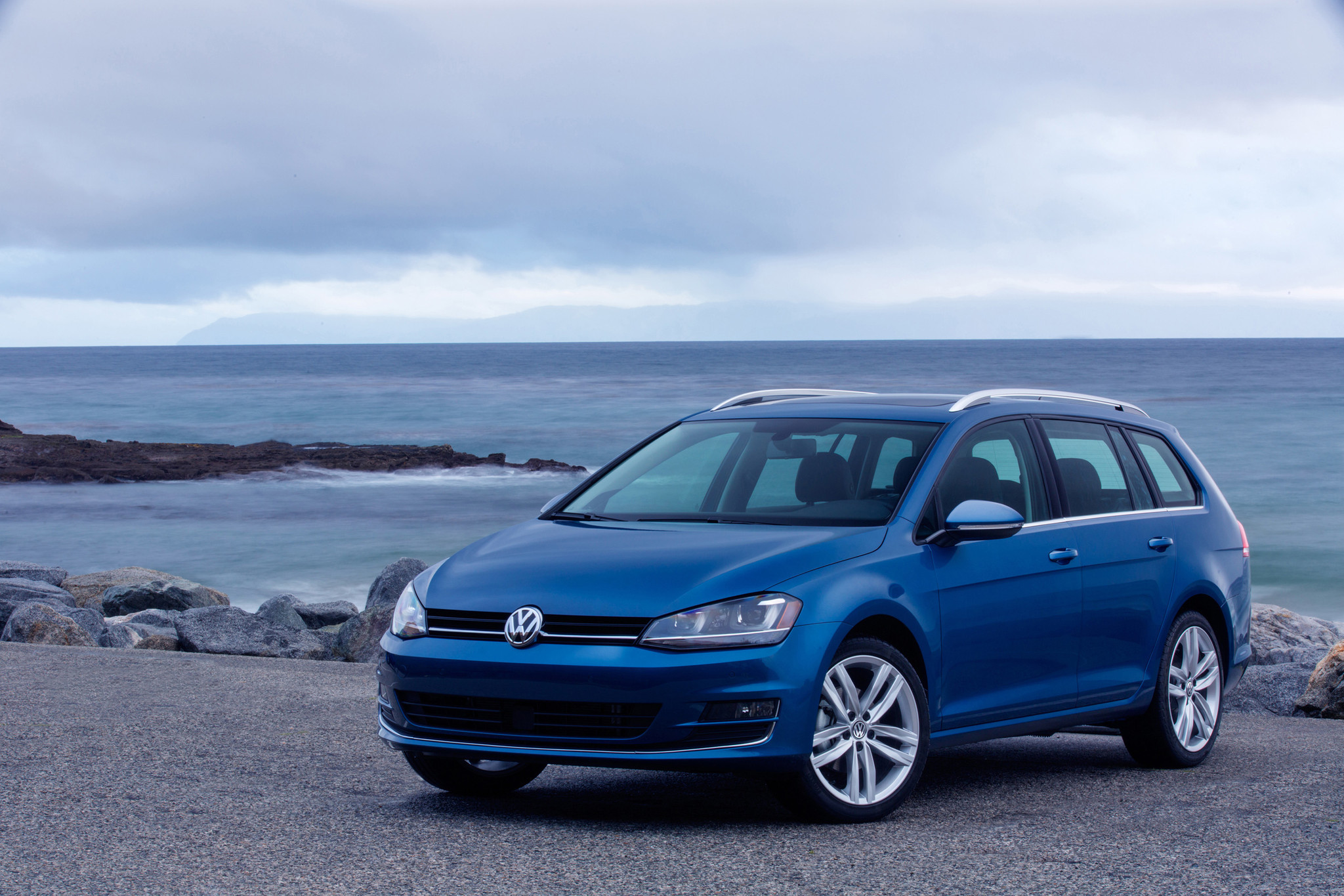 2015 VW Golf SportWagen stands alone among crowd of SUVs