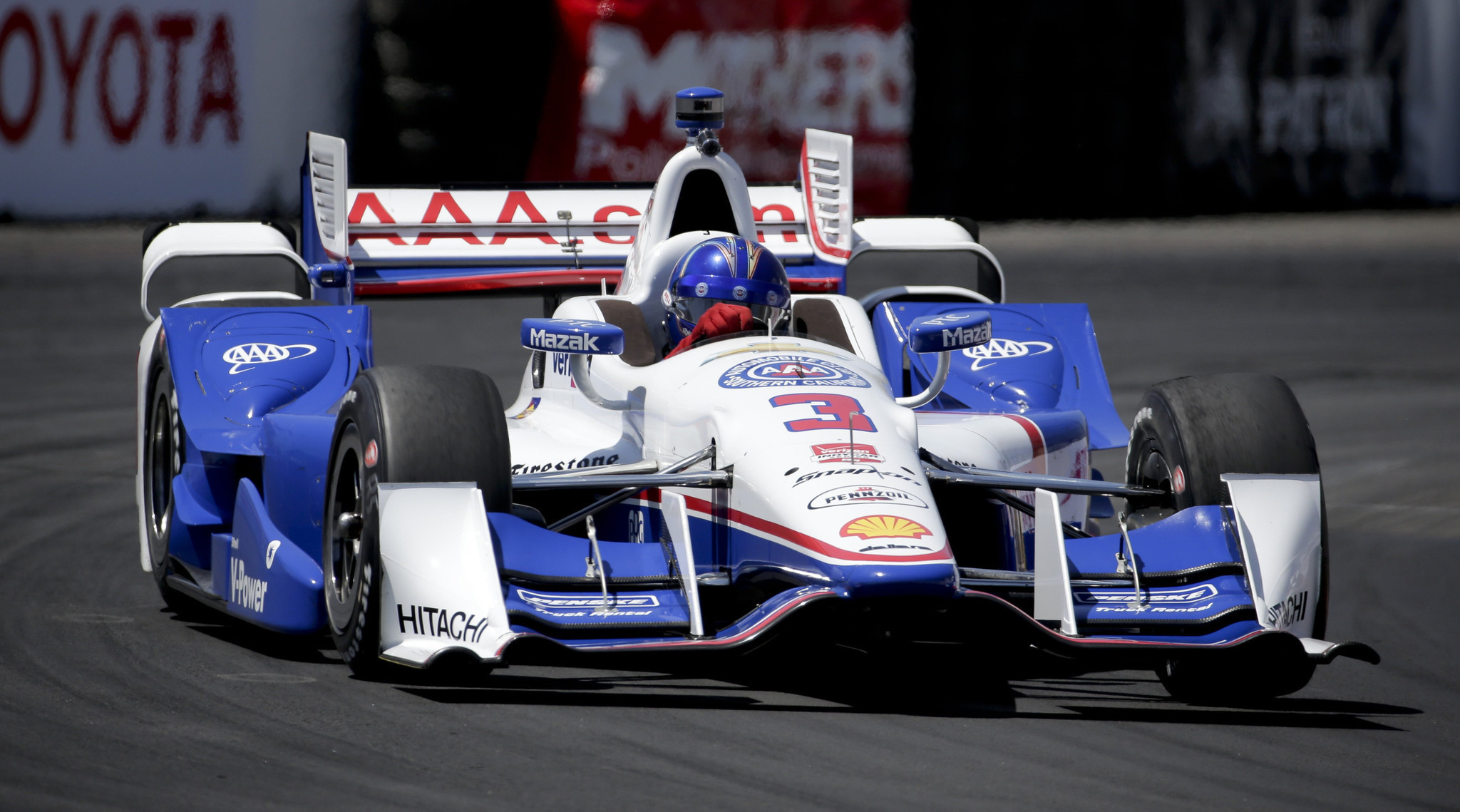 Helio Castroneves wins pole for Long Beach Grand Prix in record time