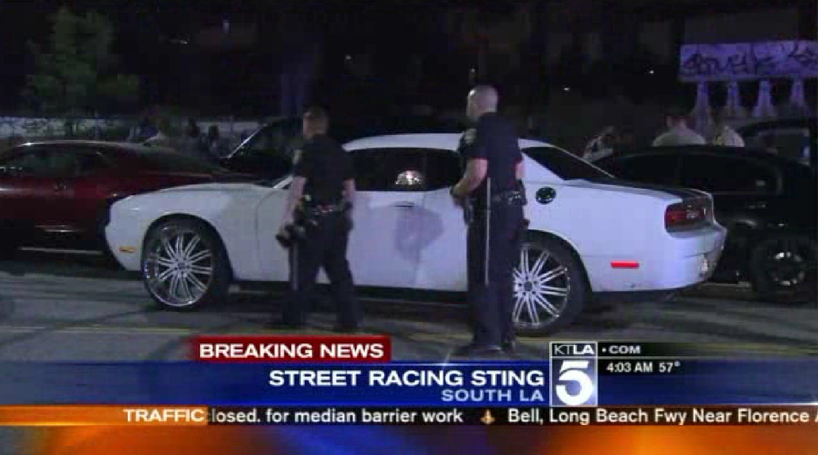 At least 12 arrested in street-racing bust - LA Times