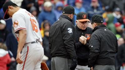 Orioles lose to Red Sox, 7-1, in rain-shortened series finale