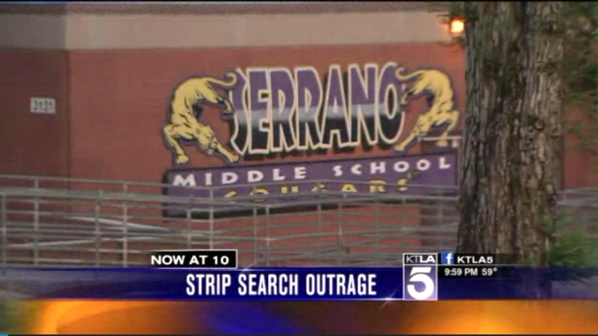 middle school teen strip