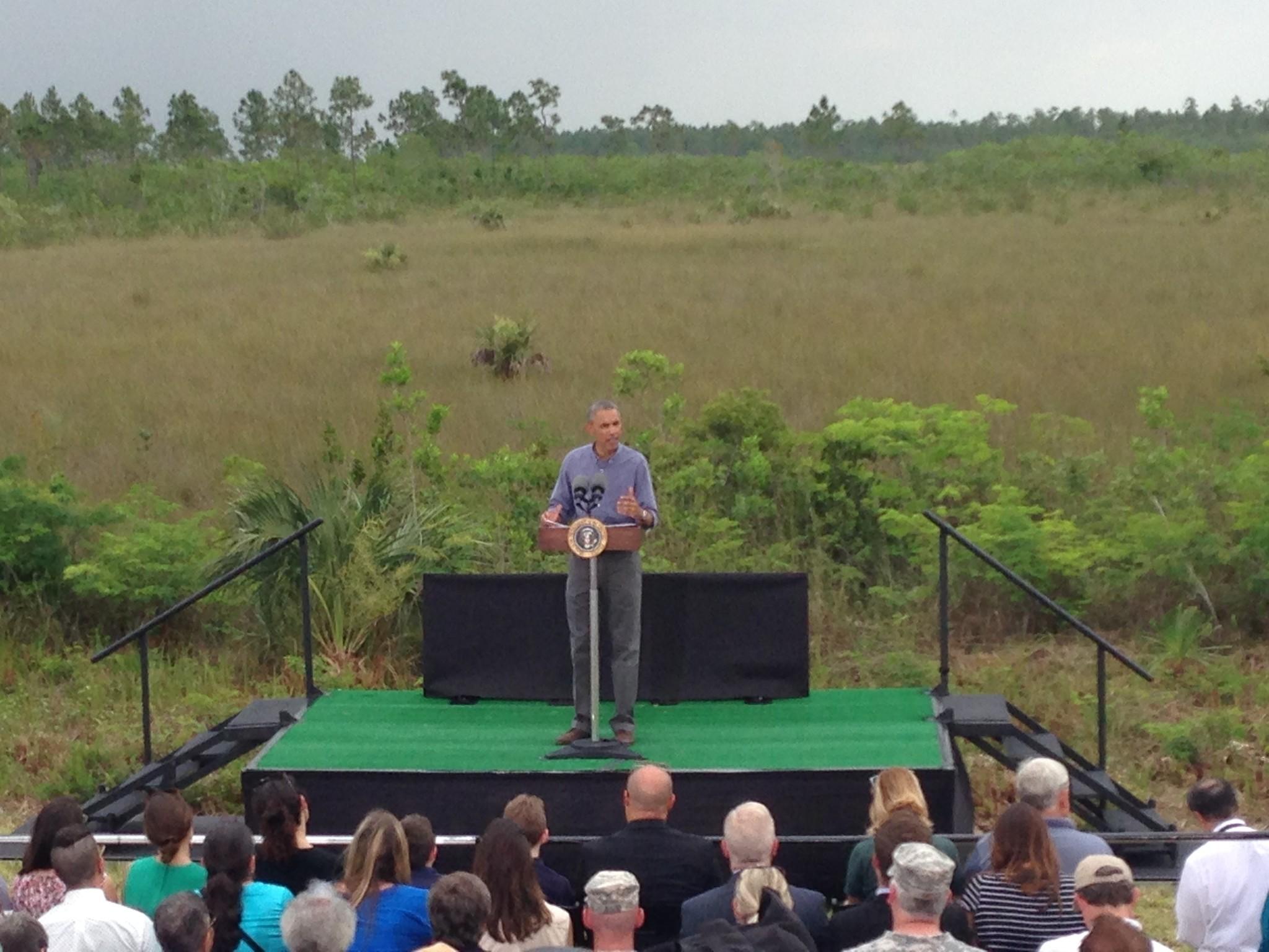 Obama utiliza una visita a los Everglades para presionar sus Acción para el Clima.