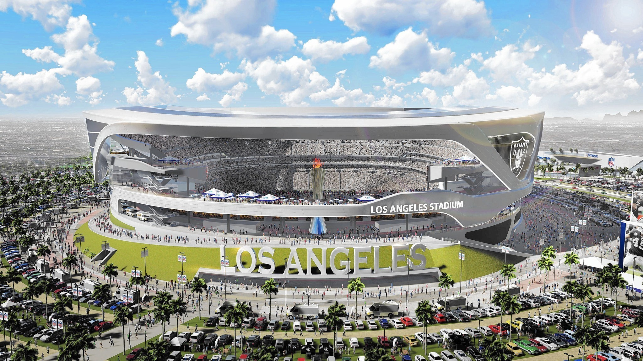 Proposed Los Angeles Nfl Stadium Features Raiders