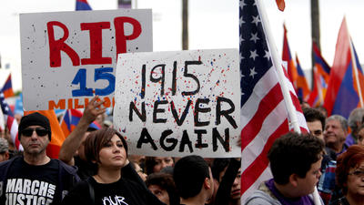 More than 130,000 people take part in LA rally commemorating Armenian Genocide centennial