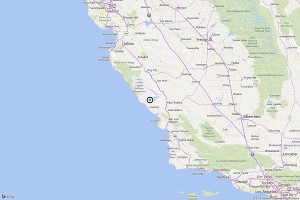 Earthquake: 3.2 quake strikes near San Simeon, Calif.
