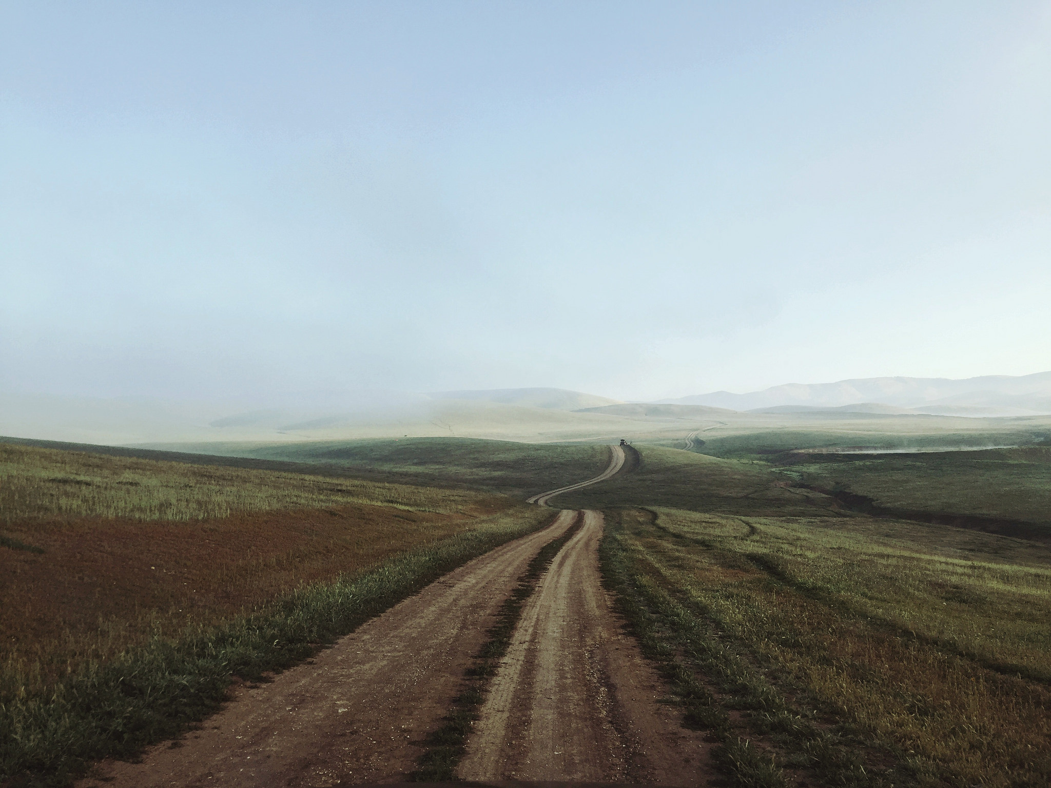 Endless rolling hills