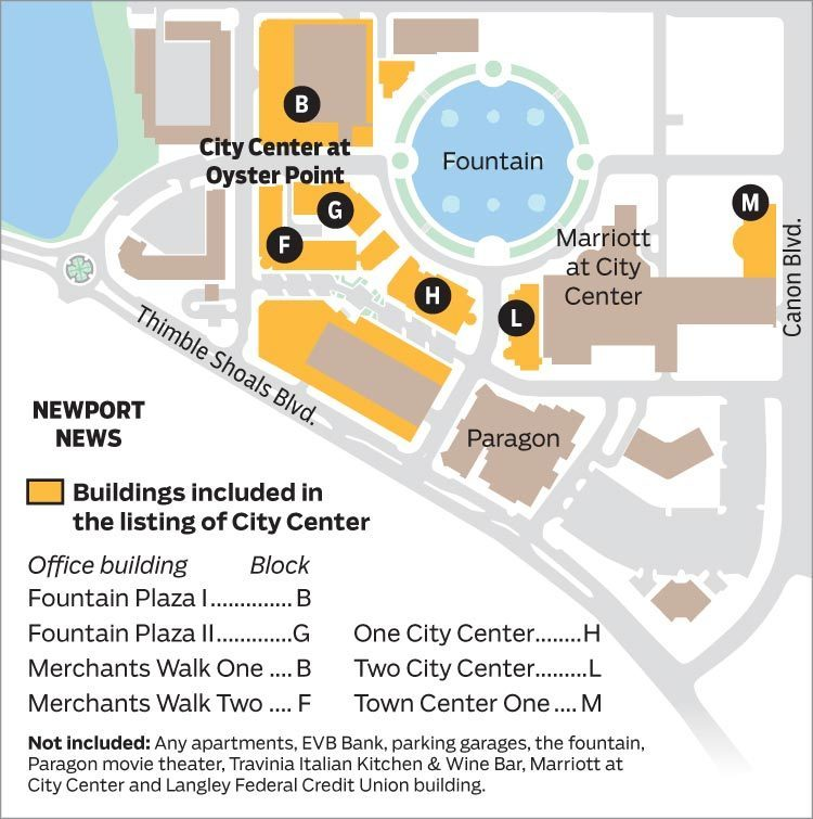 Map Parts of City Center being put up for sale Daily Press