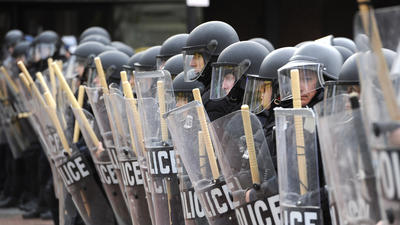 Clean-up begins after Baltimore riots