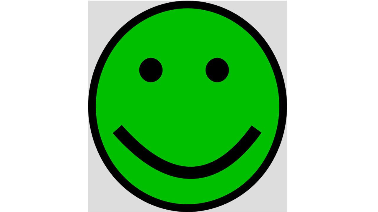 зеленый смайлик: