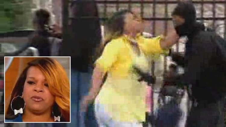 Mother who pulled her son out of the rioting speaks out