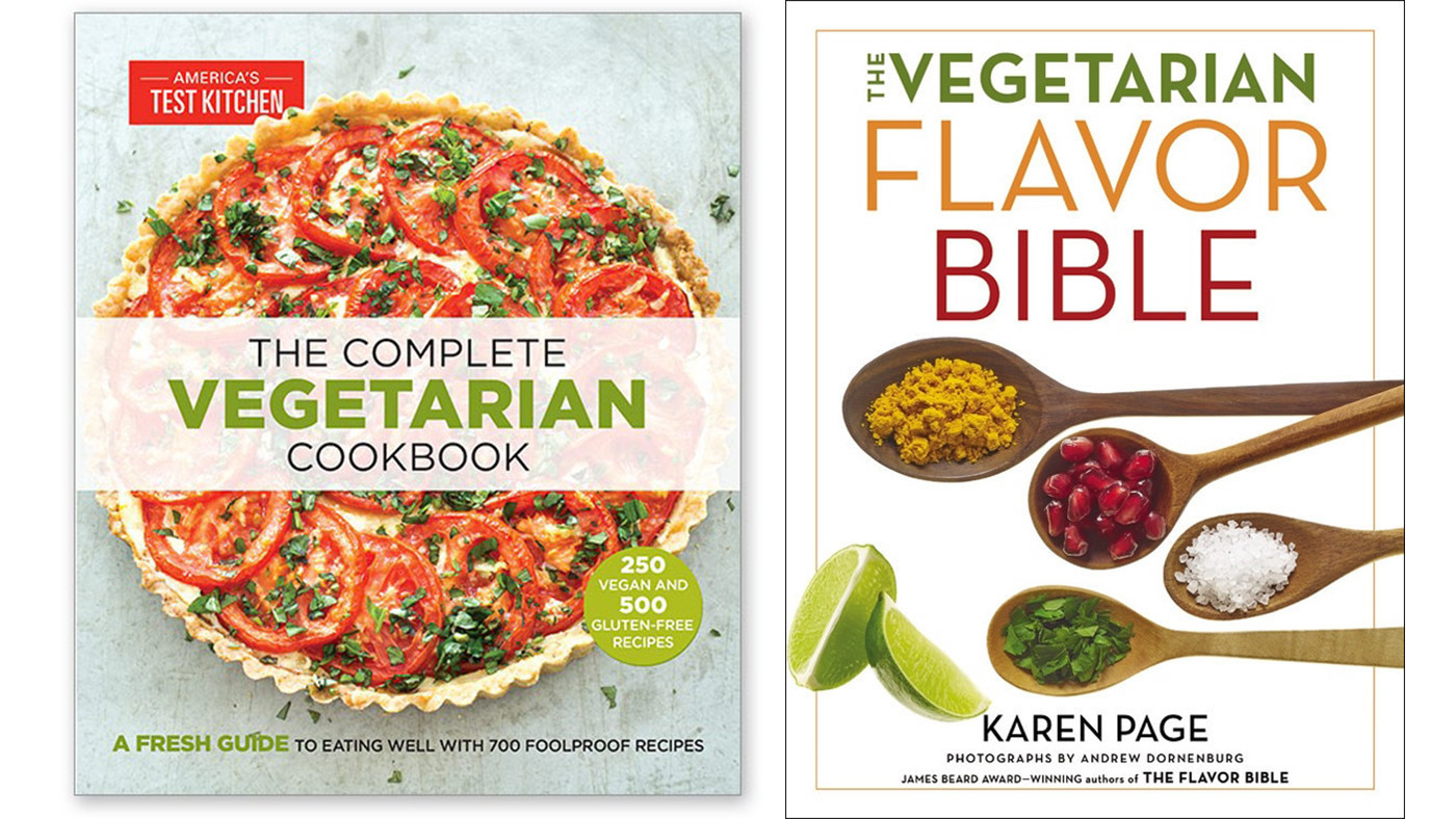 Vegetarian Cookbook Cover : Vegetarian cooking becomes a matter of tasty in two new