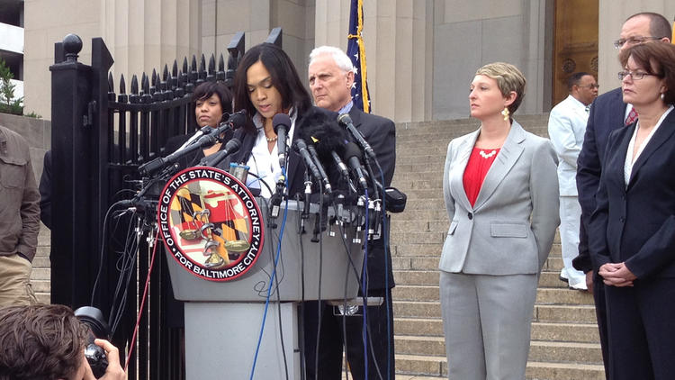 Mosby: Freddie Gray's death a homicide, officers charged