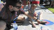Chalk Walk draws children to Sykesville Fine Art & Wine Festival