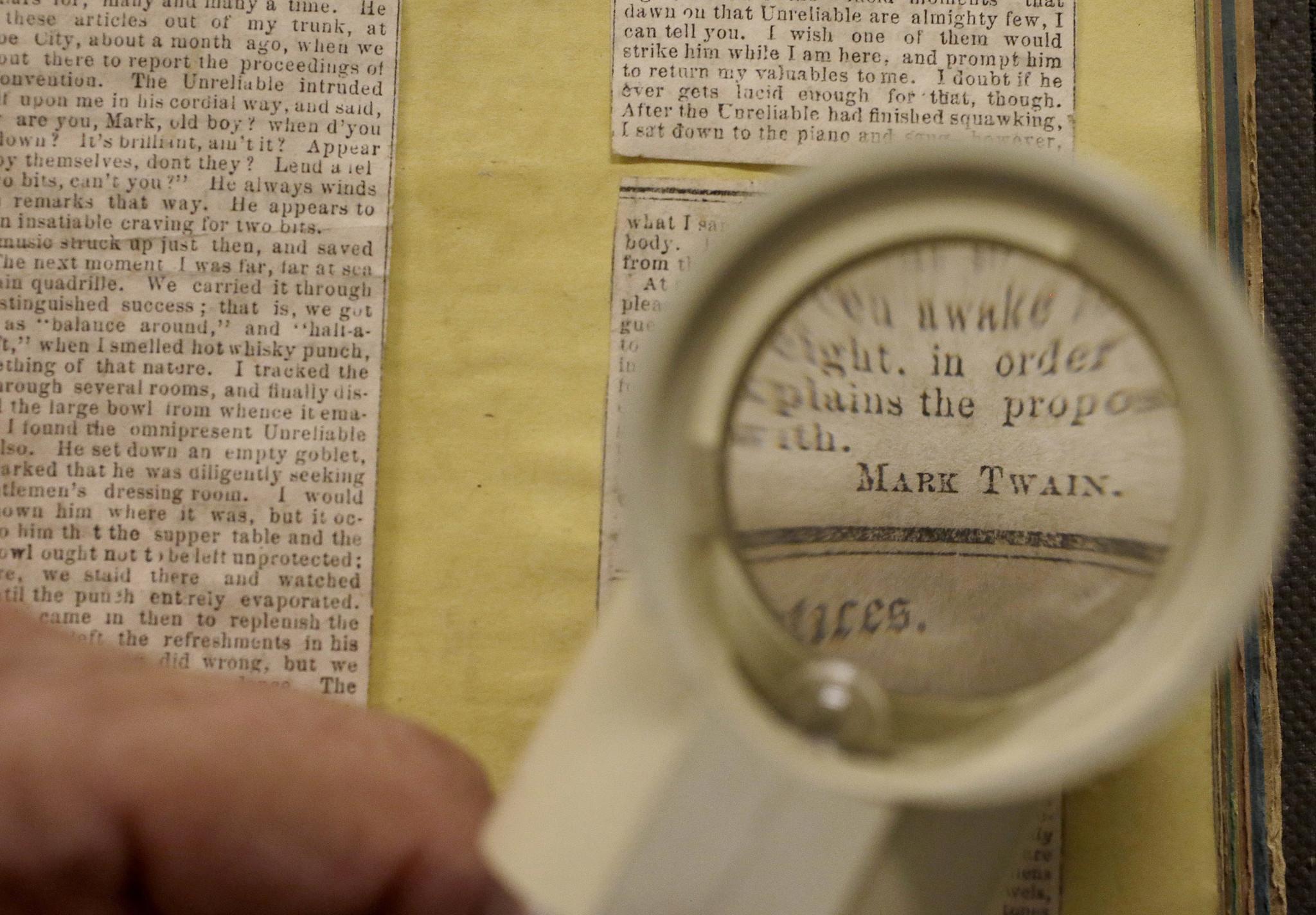 Lost Mark Twain newspaper stories recovered by UC Berkeley scholars