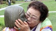 Photo Gallery:  Survivor visits comfort woman memorial