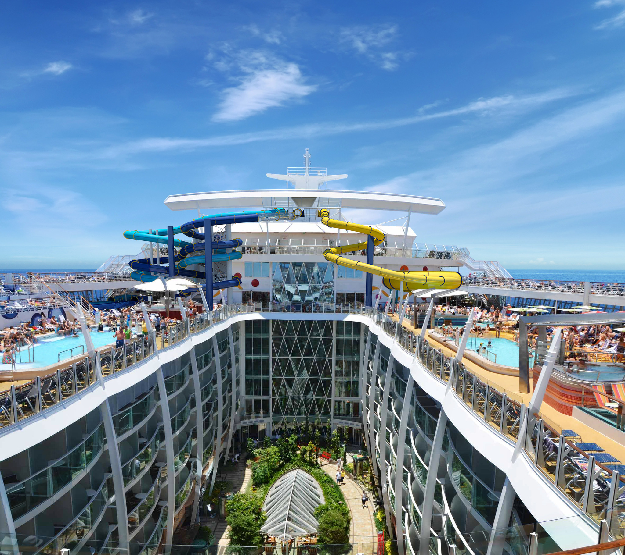 The Best Cruise Ship Water Slides Which Cruise Line Offers What For Wet Fun Orlando Sentinel
