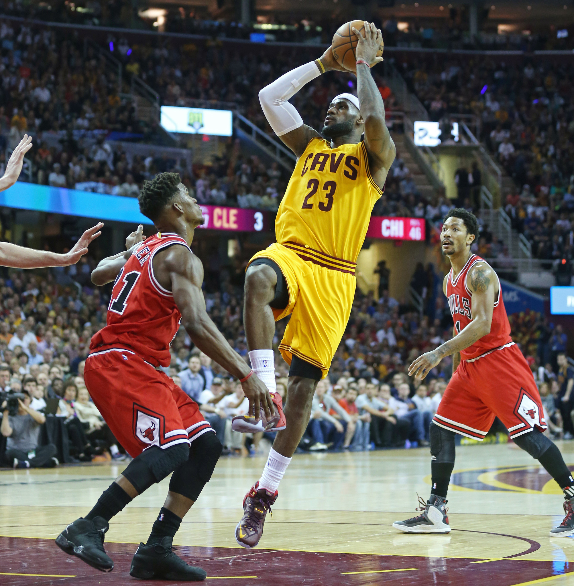 Bulls can't slow down LeBron James for a second game, lose 106-91