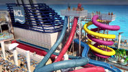 Pictures: Cruise ship water slides