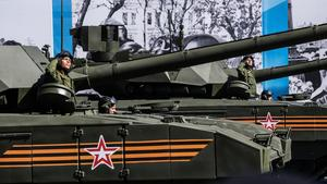 Russia flexes military might for sparse crowd of dignitaries on Victory Day