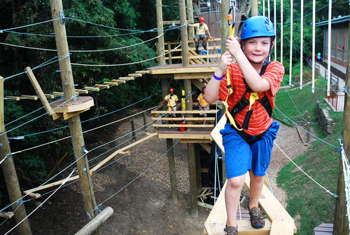 """<p>Zipline, high ropes, giant swing, climbing tower. In addition to its challenge course, Terrapin Adventures also offers guided excursions for kayaking, biking, river tubing, geocaching, sailing, rock climbing, windsurfing and horseback riding. <a href=""""http://www.terrapinadventures.com/"""" target=""""_blank"""">terrapinadventures.com</a>, 301-725-1313</p>"""