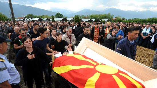 MACEDONIA-UNREST-FUNERAL
