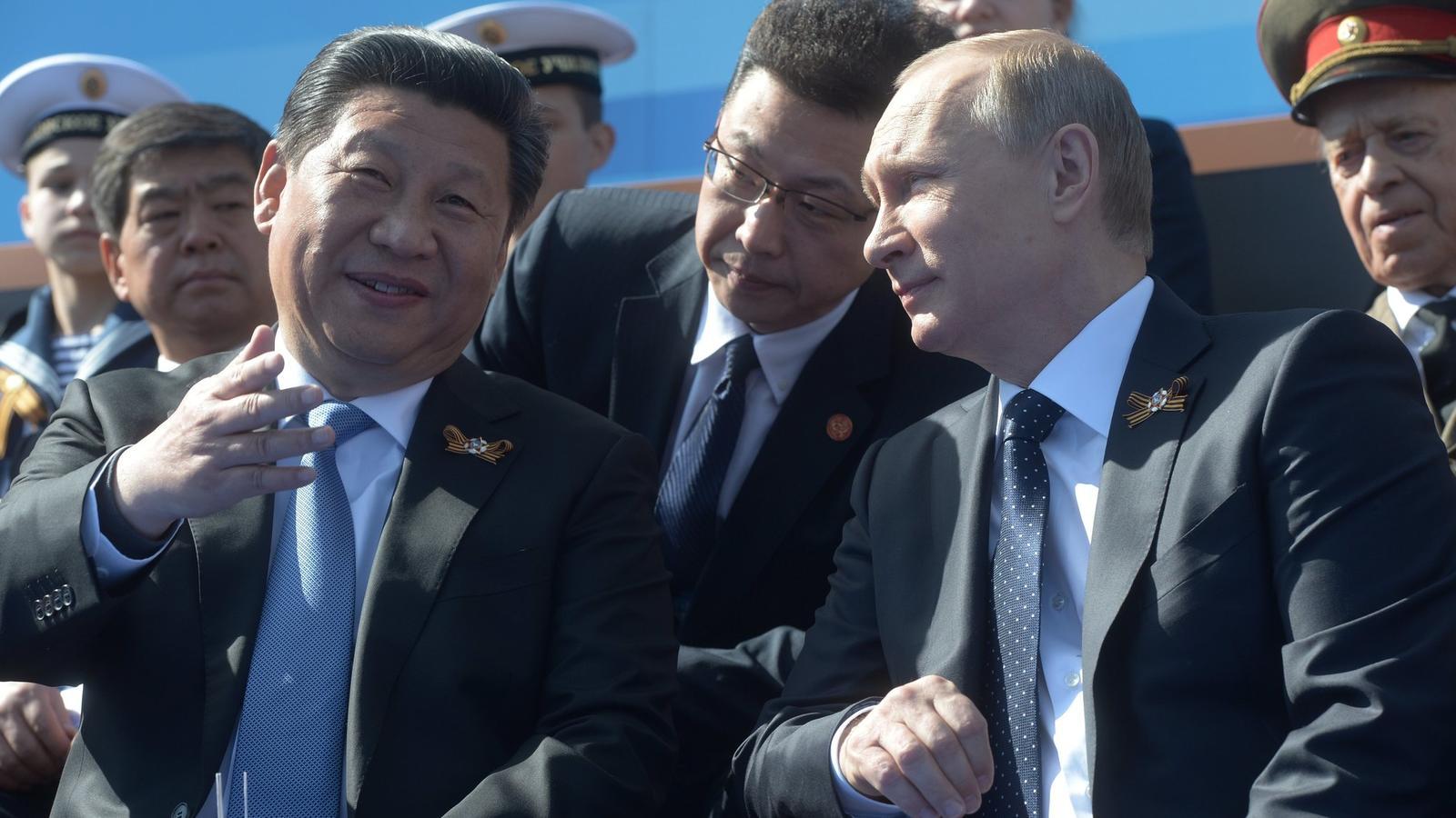 Chinese President Xi Jinping and Russian President Vladimir Putin (Host photo agency)