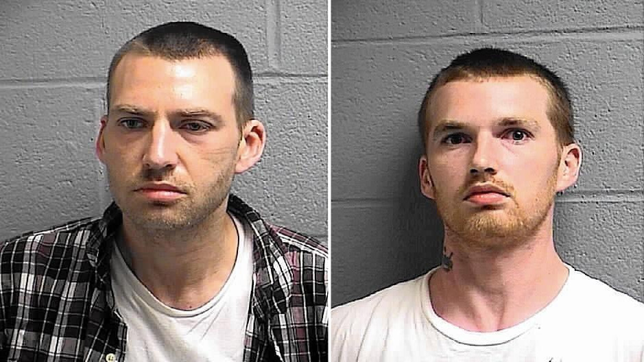 finksburg men Two harford county men were arrested monday afternoon after one stole more than $10,000 in medications from the finksburg pharmacy while the other waited in a nearby car, police say.