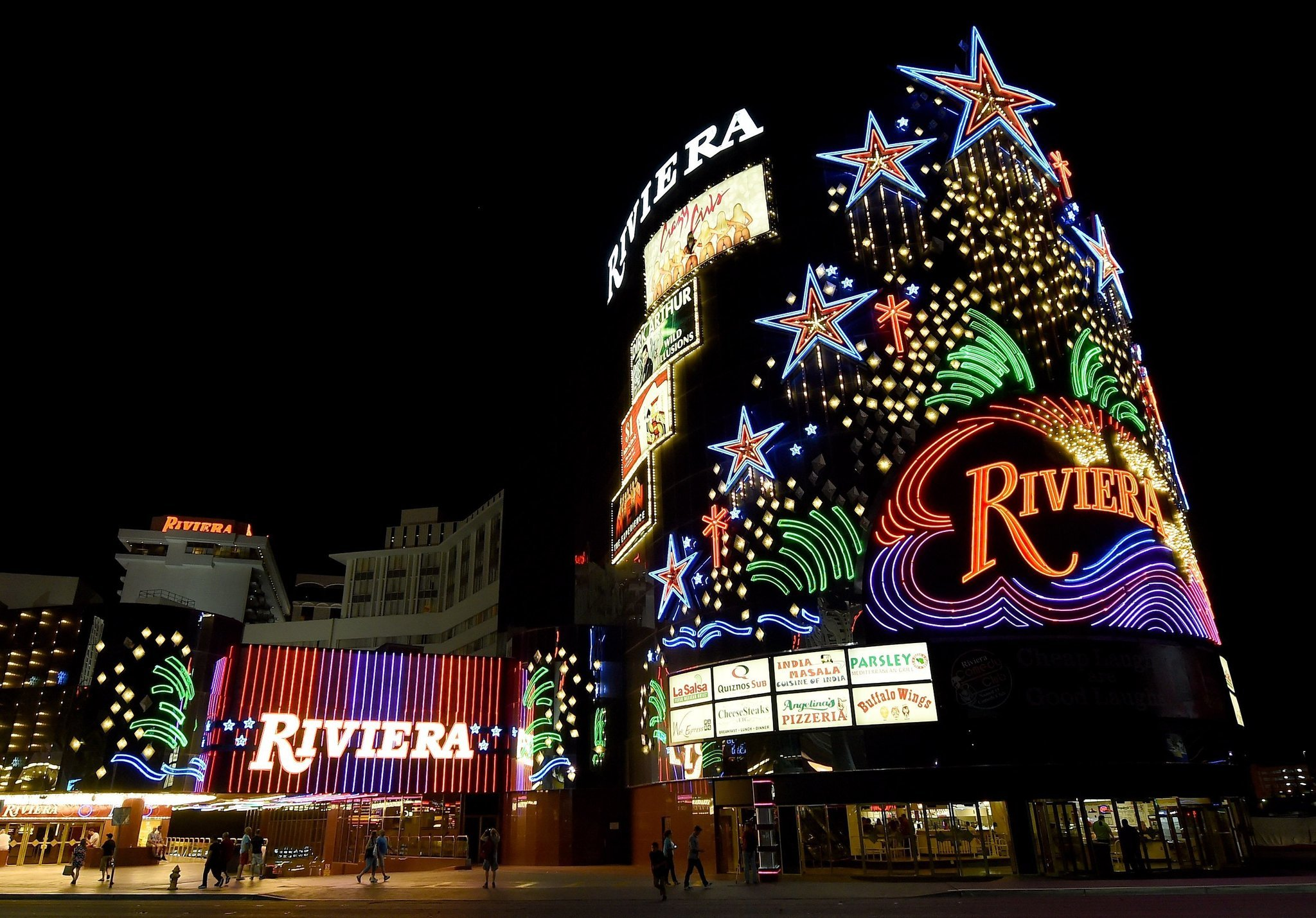 Destructive art what is built in vegas blows up in vegas for Riviera resort las vegas